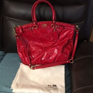 Coach Madison 21299 Cherry Red Patent Leather